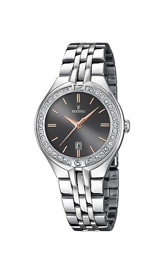 Festina Reloj Análogo clásico para Mujer de Cuarzo con Correa en Acero Inoxidable F16867/3: Festina: Amazon.es: Relojes