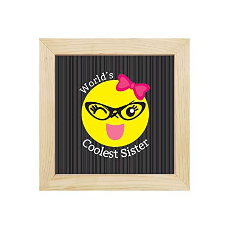 YaYa Cafe 6x6 Inches Birthday Gifts For Sister Wall Clock Worlds Coolest Canvas Rakhi