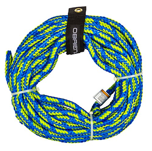 O'Brien 2 Person Floating Towable Tube Rope, Blue 60 Foot 2 Rider Tube