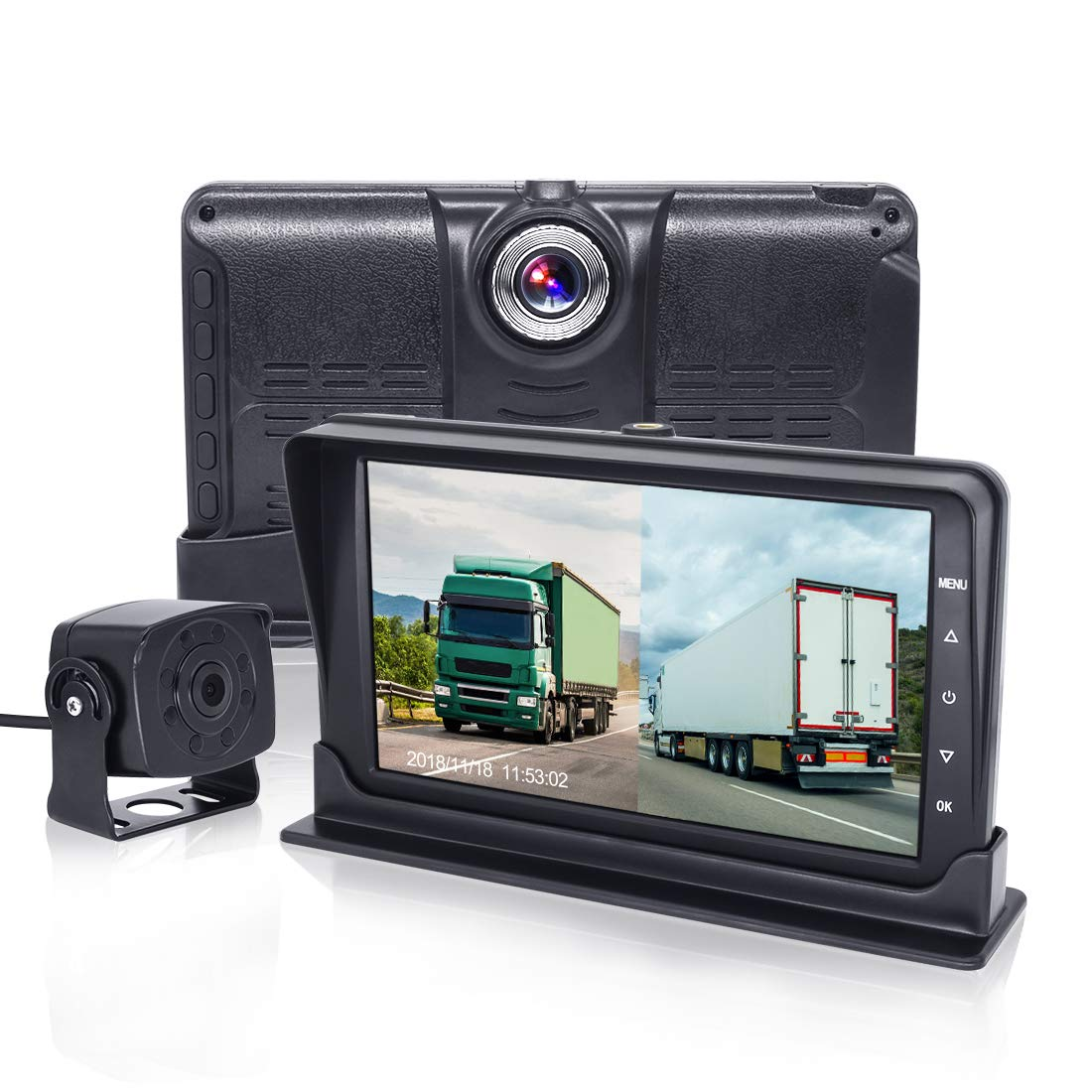 Loop Recording,Motion Detection SVTCAM JLY-01 Dual Channel Car Dash Cam 170/° Wide Angle 1080P Front Car Monitor Recorder with AHD 720P Rear View Backup Camera,Built-in G-Sensor