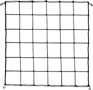 VIVOSUN 1-Pack 3x3FT Elastic Trellis Netting with Hooks for Grow Tents