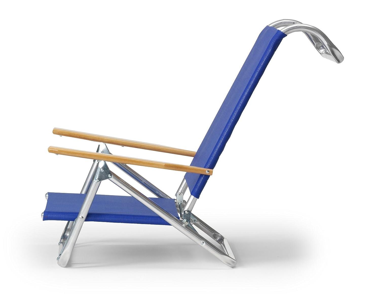 amazoncom telescope casual original minisun chaise folding beach arm chair bluewhite stripe camping chairs patio lawn u0026 garden - Telescope Casual Furniture