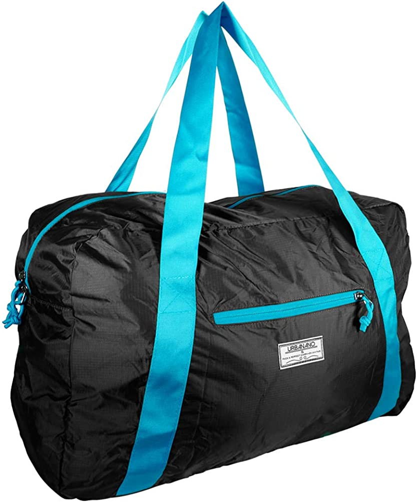 Foldable Duffel Bag, 46L Lightweight Travel Luggage Collapsible Backup Bag Sports Vacation