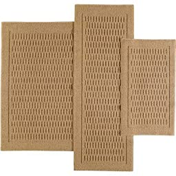 Mainstays 7033 Dylan Nylon 3-Piece Accent Rug Set (Dark Tan)