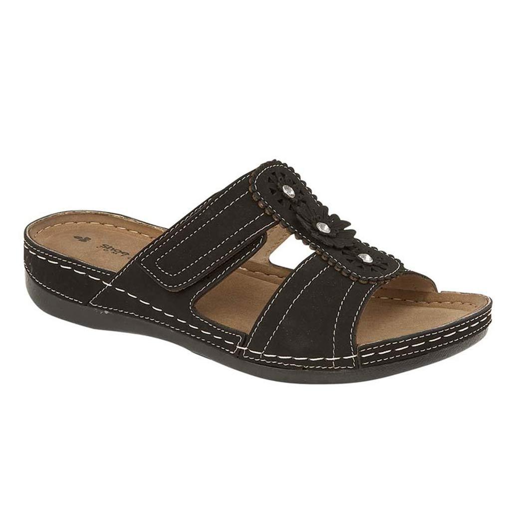 Femmes 14787 de Gezer simili cuir découpes à enfiler découpes légère Mule d été faible Wedge Mule Sandales à chaussures 3–8 Black. c94e639 - latesttechnology.space