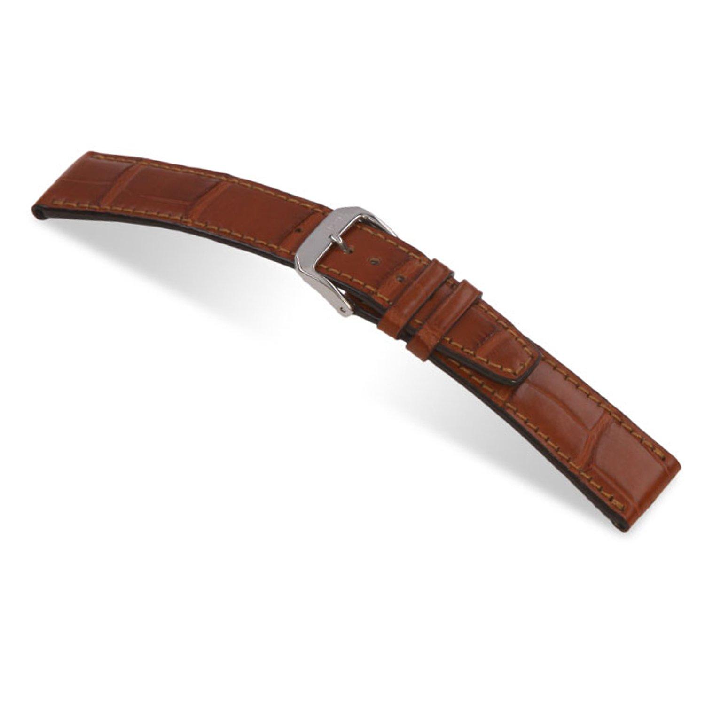 21x18mm RIOS1931 Cognac Spitfire - Genuine Alligator Watch Band for IWC Watches 114x74