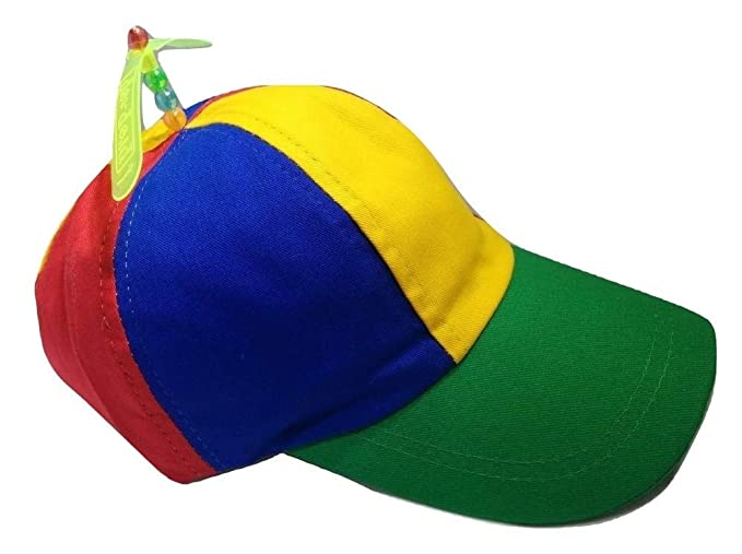 8d56dc2335c Image Unavailable. Image not available for. Color  Adult Propeller Beanie  Hat Clown Costume Baseball Copter Helicopter Ball Cap- ...