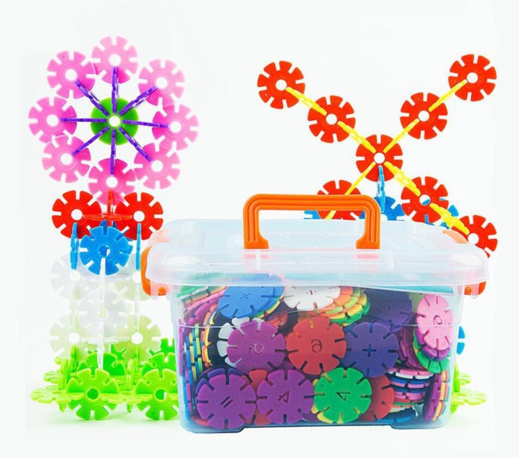 Kindergarten deletrea el número de copos de nieve pedazo de los niños escritorio de educación temprana rompecabezas de juguete de plástico bloques de construcción