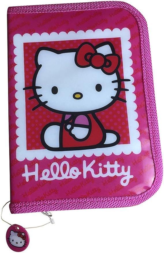 Mochila escolar de Hello Kitty con estuche para lápices: Amazon.es: Oficina y papelería