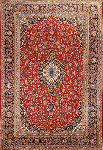 Rug Source Classical Kashmar Vintage Hand Knotted Persian Area Rug 10x15 For Living Room 100% Wool (14' 8'' x 10' (8'2 Kashmar Persian Rugs Carpets)