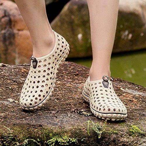 Buco scarpa Uomini Il nuovo Spiaggia sandali Uomini scarpa estate alunno Uomini Antiscivolo sandali ,Marrone ,US=8.5,UK=8,EU=42,CN=43