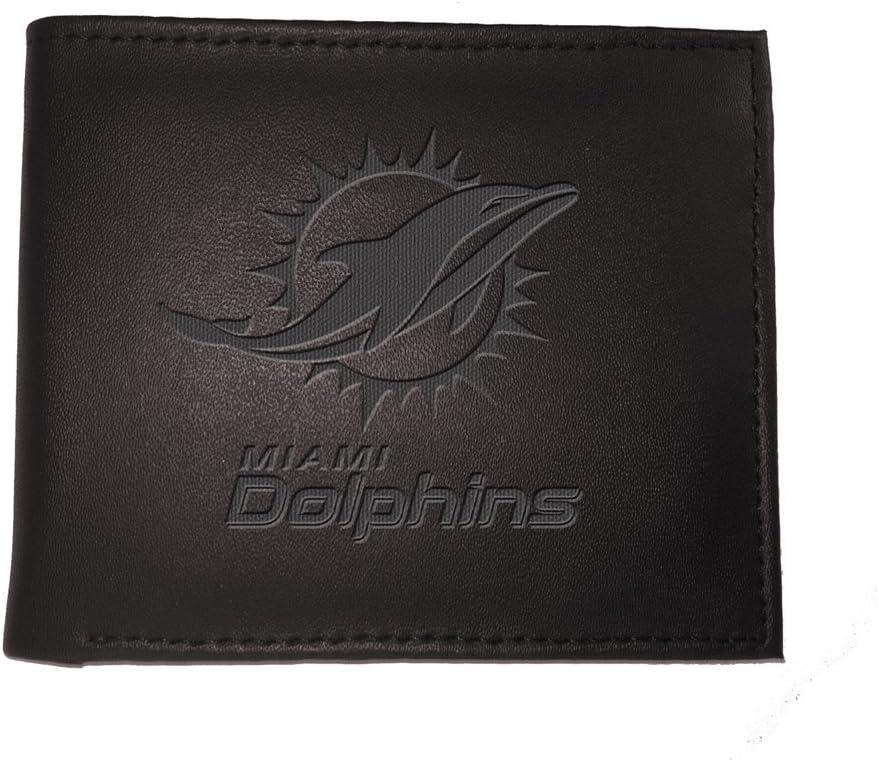 Team Sports America Miami Dolphins Team Logo Leather Bi-Fold ...