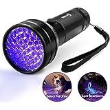 ESCO LITE Black Light UV Flashlight, Escolite UV Lights 51 LED Ultraviolet Blacklight Flashlight Pet Urine Detector…
