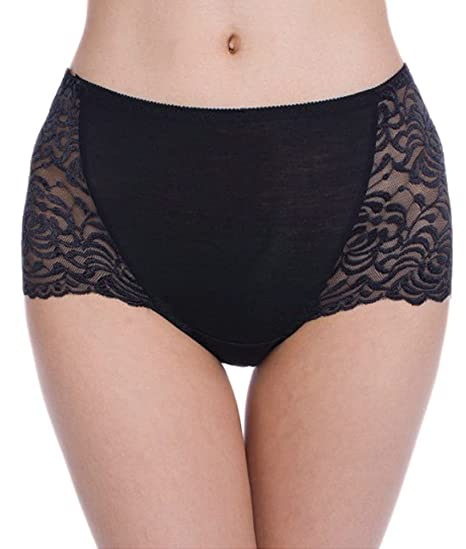 0d8053868dc Hot Womens Full Coverage Lace Brief Panties Boyshorts Underwear (Black) at Amazon  Women s Clothing store