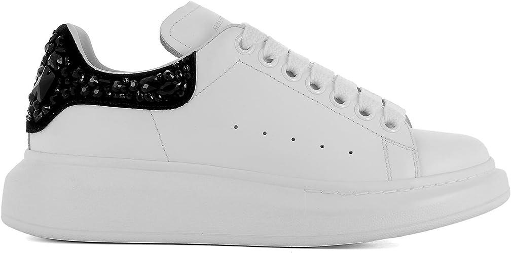 Alexander McQueen Damen 508288Whqyd9034 Weiss Leder Sneakers