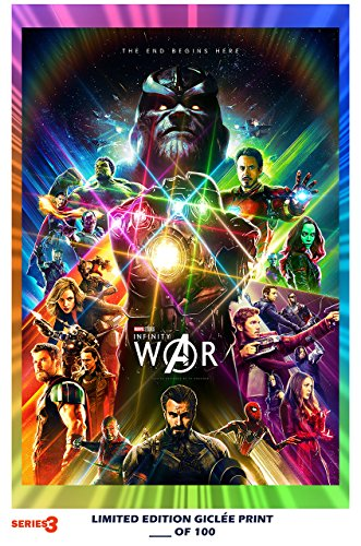 RARE POSTER thick THE AVENGERS: INFINITY WAR comic con REPRINT #'d/100!! 12x18 SERIES 3
