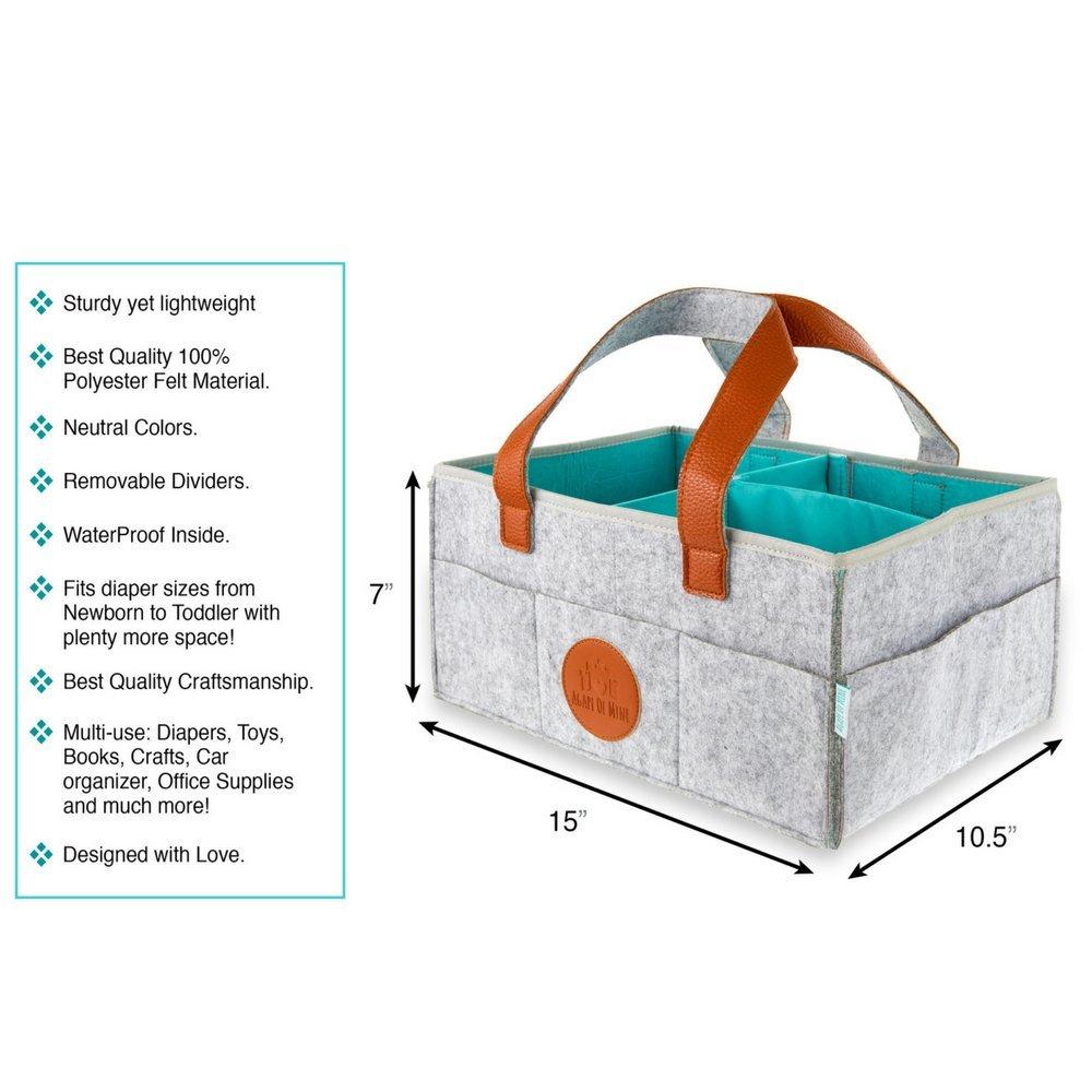 Amazon.com: Pañales de bebé Caddy, grande, impermeable bolsa ...