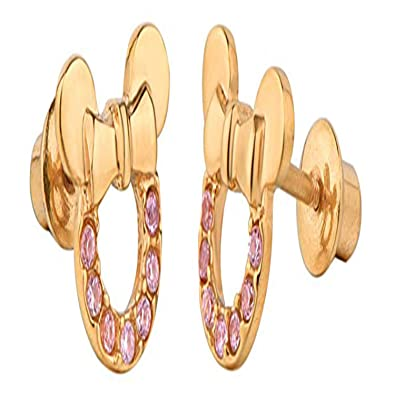 Girls Jewellery 14K Gold Plated Simulated Diamond Studded Earrings For Womens