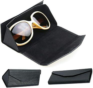 Estuche para gafas de sol, Estuche para gafas con cremallera rígida, Estuche portátil plegable para gafas, Diseño creativo creativo con diseño de triángulo y arrugas en triángulos, negro GB01: Amazon.es: Bricolaje y