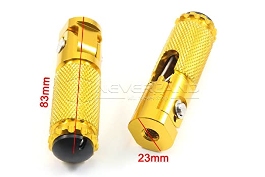 Amazon.com: Maxry(TM) CNC Universal Motorcycle Bike Folding Footrests Foot Rests Pegs Rear Pedals Set Gold C20: Home & Kitchen