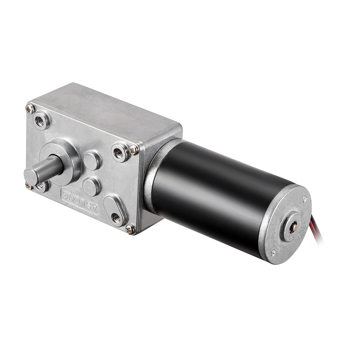uxcell DC 12V 220RPM Worm Gear Motor 5kg-cm Reversible High Torque Speed Reduce Turbine Electric Gearbox Motor 8mm Shaft US-SA-AJD-300272