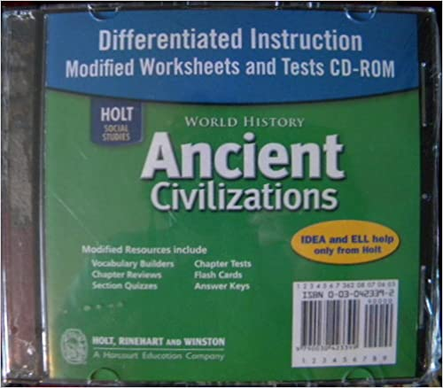 Workbook differentiated instruction worksheets : Amazon.com: World History: Ancient Civilizations Through the ...
