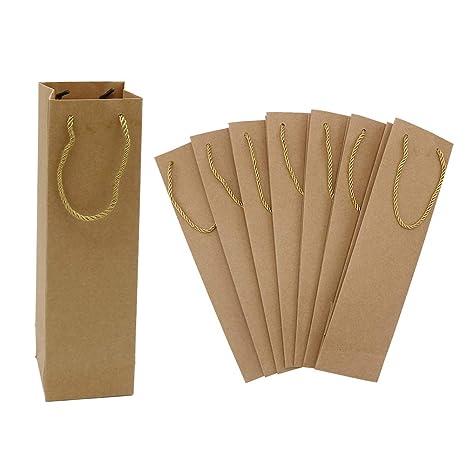 Amazon.com: Paquete de 10 bolsas de vino de arpillera con ...