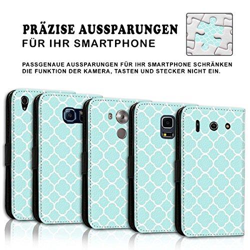Wallet Book Style Flip Handy Tasche Case Schutz Hülle Schale Motiv Etui für Apple iPhone 6 Plus / 6S Plus - Design Flip MV70
