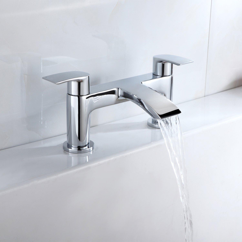 Bath Tap] Hapilife Bathroom Waterfall Monobloc Bath Filler Mixer Tap ...
