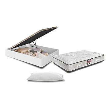 Muebles Baratos Canapé con Base Tapizada + Colchón Visco 150x190 SUBIDA DOMICILIO blanco ref-10: Amazon.es: Hogar