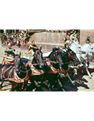 Charlton Heston in Ben-Hur Epic Chariot race 24x36 Poster