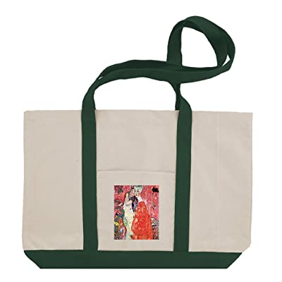 135658241fe new The Girlfriends (Klimt) Cotton Canvas Boat Tote Bag Tote ...