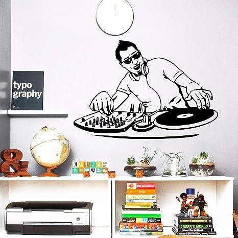 Night Club wall sticker vinilo musica Boy DJ MEZCLADOR ...