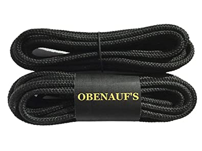 19ee7ef35aea9 Obenauf's Boot Laces Industrial Strength Black Waxed Round 1 Pair 54 Inch