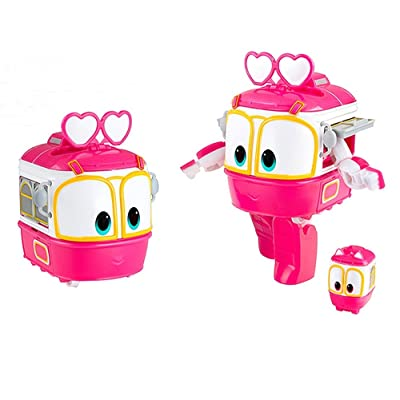 "Animation Characters ""SELLY"" Toy, Kids, Child, Korean Animation ""Robot Train""Transformer Train Robot character +Cute sticker gift: Toys & Games"