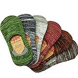 Sakya Men's Cotton No Show Socks - Deodorant Non-Slip Liner Socks 6 Pair