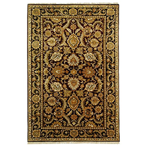 5' Dynasty Collection (Safavieh Dynasty Collection DY244A Hand-Knotted Burgundy and Black Premium Wool Area Rug (5' x 8'))