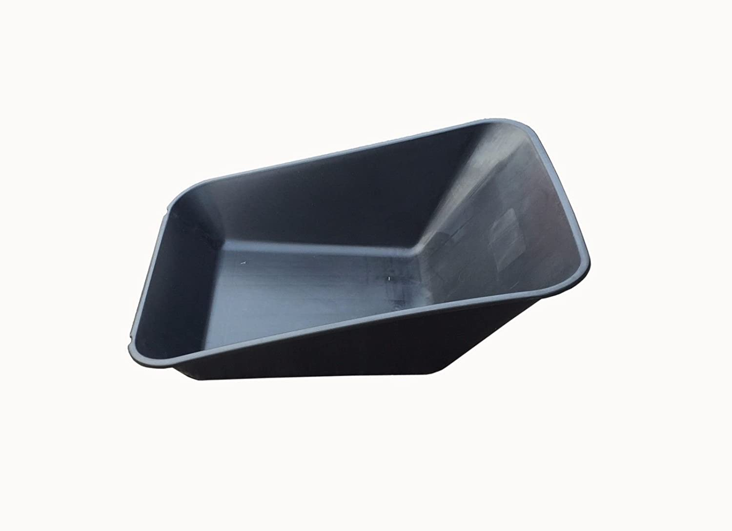 WHEEL BARROW BLACK REPLACEMENT PLASTIC BODY 85LITRE/ NO HOLES MADE IN UK ketoplastics