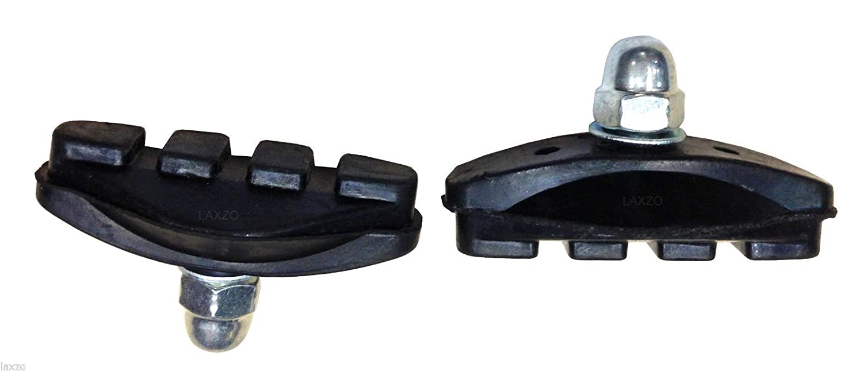 Laxzo Bicycle Rubber Brake Blocks Black 2x Pairs 50mm
