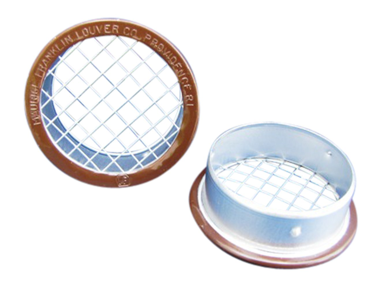 4'' Round Open Screen Vent w 1/4'' mesh - Brown - Pkg of 4