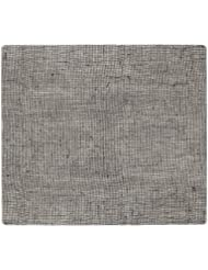 modern-twist Modern design Non-slip Heat Resistant Silicone Placemats for Dining and Decoration, Rectangle, Linen Pattern, Chocolate