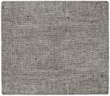 modern-twist Linen Pattern, Chocolate Color Silicone Rectangle Placemats for Dining and Decoration, Modern Design Non-slip Heat Resistant