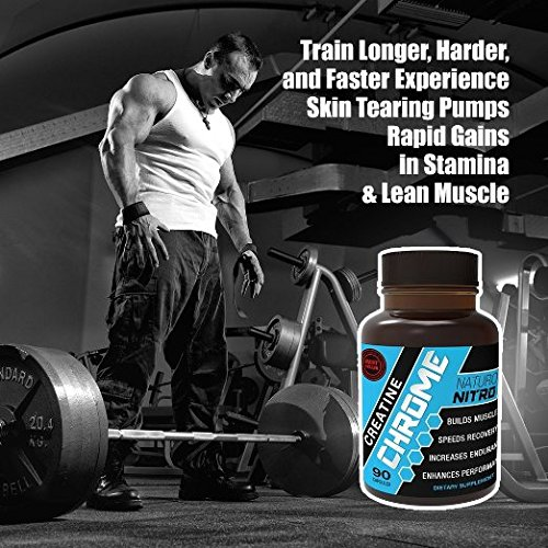 Creatine Chrome with Magnapower™ (Creatine Magnesium) — New Quality Creatine Formula Promotes Rapid Gains in Stamina, Strength and Lean Muscle Growth 90ct, 30 Servings