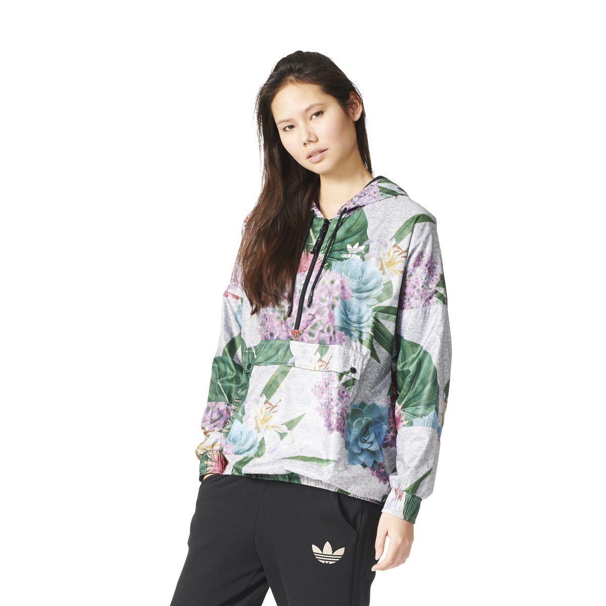 0cf8354982ba8 Adidas Originals Train FL Windbreaker Women s Windbreaker - Grey - UK 20   Amazon.co.uk  Clothing