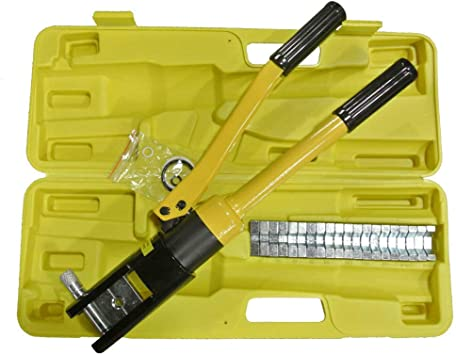 Hydraulic 16 Ton Wire Cable Terminal Crimping Crimper 16-300mm2 With 11 Dies