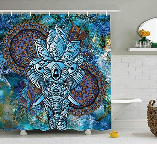 Ambesonne Elephant Ornaments Mystical Universe