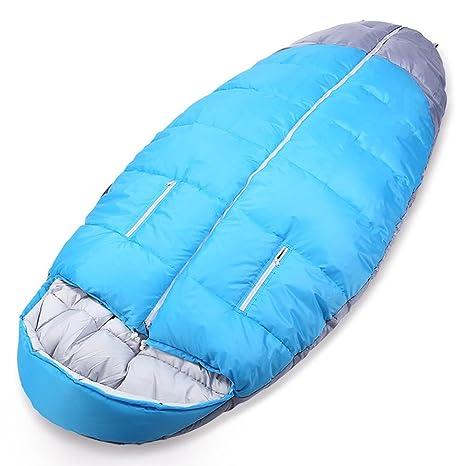 ZXQZ Saco de dormir/Adulto Acampar al aire libre que camina/espesa ensancha el