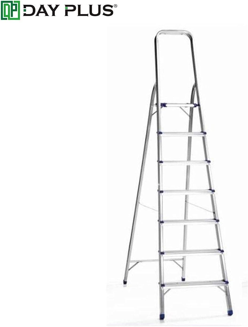 Pieghevole in alluminio Scala telescopica Scala a pioli Multi-Purpose Multi-Function allungabile EN131 Ladder dljyy Color : Iron Step Ladder, Size : 2 step