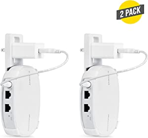 AC Outlet Mount Compatible with Samsung SmartThings WiFi - Flexible mounting Option for Your Samsung SmartThings WiFi (White, 2 Pack)