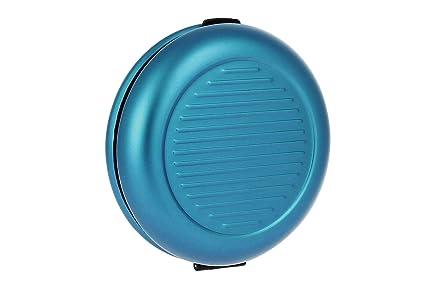 Ögon Smart Wallets - Monedero de Metal Cartera - hasta 20 Euros de Monedas - Aluminio anodizado (Azul)